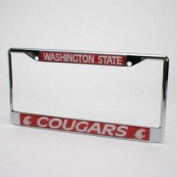 Washington State Cougars Metal Licence Plate Frame W/domed Insert
