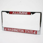 Washington State Cougars Alumni Metal Licence Plate Frame W/domed Insert