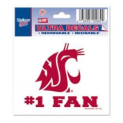 Washington State Cougars Decal 7.6cm X 10cm - #1 Fan