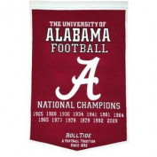 Alabama Crimson Tide Winning Streak Genuine Wool Dynasty Banner 60cm x 90cm