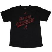 Alabama Crimson Tide Adidas Youth Black Old Style Writing T-Shirt