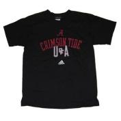 Alabama Crimson Tide Adidas U of A Youth Black T-Shirt