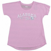Alabama Crimson Tide Gear for Sports Women Pink Sheer Striped Back T-Shirt