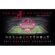 """Alabama Crimson Tide """"The Road To Victory"""" 2011 National Champions Poster Print"""