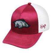 Arkansas Razorbacks TOW Women Maroon White Satina Mesh Adjustable Strap Hat Cap