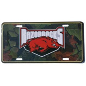 Arkansas Razorbacks Game Day Outfitters Green Camo Metal Licence Plate