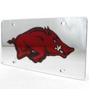 Arkansas Razorbacks Inlaid Acrylic Licence Plate - Silver