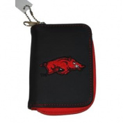 Arkansas Razorbacks Alan Stuart Black Leather Style Zipper Wallet 8.9cm x 13cm