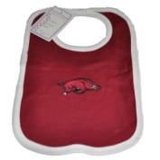Arkansas Razorbacks Infant Baby Newborn Crimson White Knit Bib