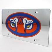 Auburn Tigers Inlaid Acrylic Licence Plate - Silver