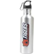 Auburn Tigers Aluminium Water Bottle - Wide Mouth - Silver
