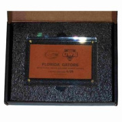 Florida Gators 2012 College World Series Limited Edition Leather Clear Plaque