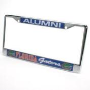 Florida Gators Alumni Metal Licence Plate Frame W/domed Insert - Blue Background