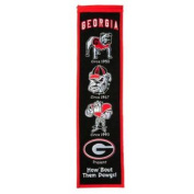 Georgia Bulldogs Past Mascots Wool Heritage Banner