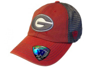 Georgia Bulldogs TOW Red Grey Mortar Mesh Backed Flexfit Slouch Hat Cap