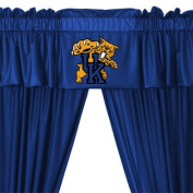 NCAA Kentucky Wildcats 5pc Long Curtain-Drapes Valance Set