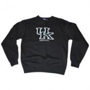 Kentucky Wildcats Gear for Sports Women Black Foil Letters Sweatshirt