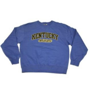 Kentucky Wildcats Gear for Sports Blue Argyle Felt Lettering Sweatshirt