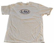 LSU Tigers Logo Performance Polyester White T-Shirt