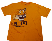 LSU Tigers Champion Big Logo Gold Purple Men's T-Shirt