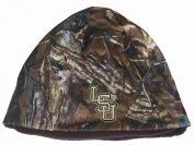 LSU Tigers TOW Camo Brown Trap 1 Reversible Knit Winter Beanie Hat Cap