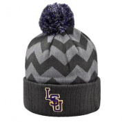 Women's Grey Chevron Knit LSU Tigers Louisiana State Hat