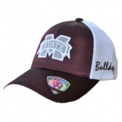 Mississippi State Bulldogs TOW Women Maroon White Satina Mesh Adjustable Hat Cap