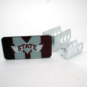 Mississippi State Bulldogs Universal Hitch Receiver W/domed Emblem -red Background