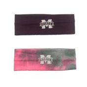Mississippi State Bulldogs Maroon & Pink 2 Pack Yoga Headbands