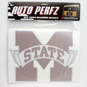 Mississippi State Bulldogs Perforated Vinyl Window Decal