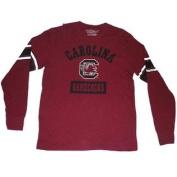 South Carolina Gamecocks Colosseum Maroon Black White Arm Stripes LS T-Shirt