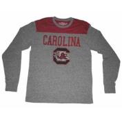 South Carolina Gamecocks Colosseum Grey Maroon Long Sleeve Tri-Blend T-Shirt