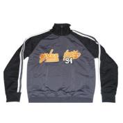 Tennessee Volunteers J. America Mens Vintage Track Jacket Grey Black Sleeves