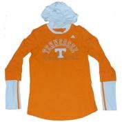 Tennessee Volunteers Adidas Women Orange White Hoodie Long Sleeve T-Shirt