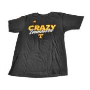 "Tennessee Volunteers Adidas Black and Orange ""Crazy"" Short Sleeve T-Shirt"