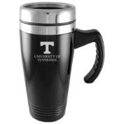 Tennessee Volunteers Engraved 470ml Stainless Steel Travel Mug - Black