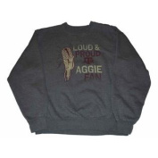 Texas A & M Aggies Men's Gear Loud & Proud Aggie Fan Sweatshirt Grey