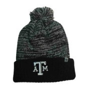 Texas A & M Aggies TOW Black Grey Dense Knit Cuffed Beanie Hat Cap with Poof