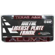 Texas A & m Aggies Metal Alumni Inlaid Acrylic Licence Plate Frame