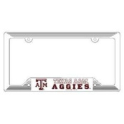 Texas A & M Aggies Plastic Licence Plate Frame