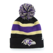 Baltimore Ravens 47 Brand Black Breakaway Knit Cuffed Poofball Beanie Hat Cap