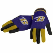 Baltimore Ravens Forever Collectibles Multi Coloured Knit Gloves Ladies One Size