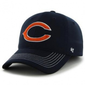 Chicago Bears 47 Brand Navy Game Time Closer Performance Flexfit Hat Cap