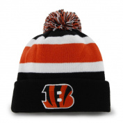 Cincinnati Bengals 47 Brand Tri-Tone Breakaway Cuffed Poofball Beanie Hat Cap
