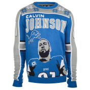 Detroit Lions Calvin Johnson #81 Big Logo Ugly Sweater Size