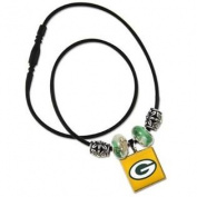Green Bay Packers LifeTile Necklace with Bead Accents