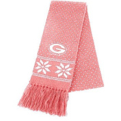 Green Bay Packers Pink Fair Isle Knit Scarf