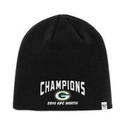 Green Bay Packers 47 Brand 2014 NFC North Champions Black Hat Cap Beanie