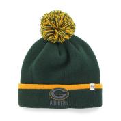Green Bay Packers 47 Brand Green Gold Baraka Knit Cuffed Poofball Beanie Hat Cap
