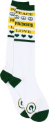 Green Bay Packers Women's Peace and Love Socks